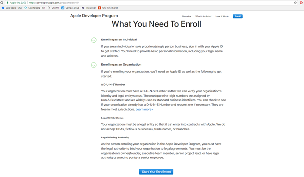 Enrolling in the Apple Developer Program – Ready Education